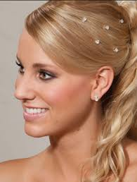 hair jewels beautiful wedding bling wedding hairstyles shoulder length hair