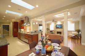 Kitchen Family Room Combo by Kitchen Eat In Bar With Pass Through To Living Room Guests Sitting