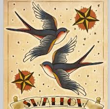 american traditional swallows tattoos pinterest american