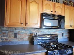 Stone Kitchen Backsplash How To Nest For Less - Stone backsplash