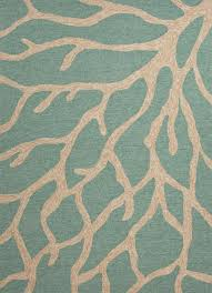 Green Round Rug by Jaipur Coastal Lagoon Coral Blue White Col13 Area Rug Free Shipping