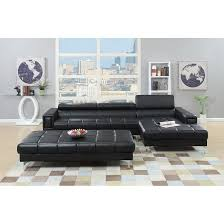 adjustable back sectional sofa bobkona hayden bonded leather 2 pcs sectional sofa loveseat with