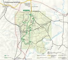 Uga Parking Map Chickamauga And Chattanooga Nmp Chickamauga Battlefield Auto Tour