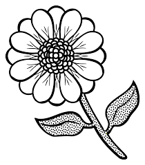 clipart flower lineart