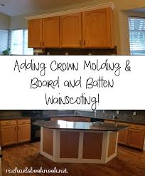 how to add crown moulding to cabinets our coastal home adding crown molding to kitchen cabinets