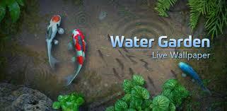 wallpaper ikan bergerak untuk pc water garden live wallpaper apps on google play