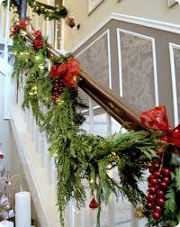 Banister Garland Ideas The 25 Best Christmas Stair Garland Ideas On Pinterest