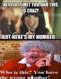 This Is Crazy Meme - wrong number call me maybe know your meme