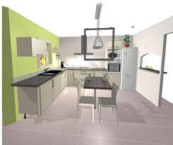 photo cuisine semi ouverte plan cuisine ouverte sur salon