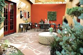 style courtyards design creates southwest style courtyard