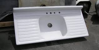 kitchen sinks inspiring with drainboards reproduction sink