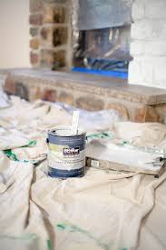 how to whitewash a stone fireplace coffee with summer