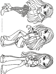 bratz color coloring pages kids cartoon characters