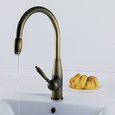 kitchen faucet brass antique inspired pull kitchen faucet antique brass finish