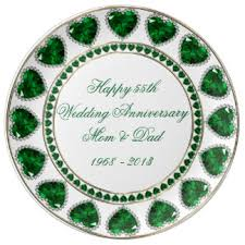 55th wedding anniversary custom wedding anniversary porcelain plates