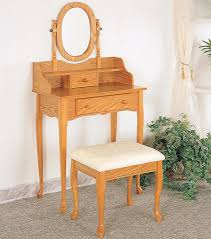 Small Makeup Vanity Furniture Small Wood Bedroom Makeup Vanity With Storage And Oval