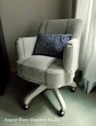 Small Club Chair Slipcover Grain Sack Desk Chair Slipcover U2014 August Blues