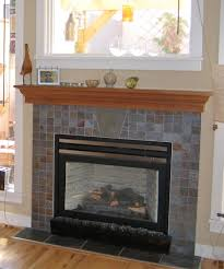 Tiled Fireplace Wall by Fireplace Mantel Surrounds Ideas Fireplace Pinterest