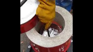 homemade metal foundry furnace melting aluminium from aluminum