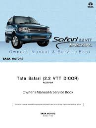 Dicor Cool Coat by Tata Safari Dicor Manual Revised Airbag Seat Belt