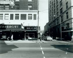downtown knoxville in the 1960s old car black and white