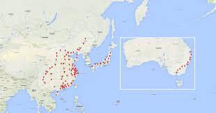 Korea Map Asia by Supercharger Map Teslamotors