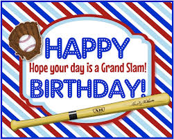 a grand slam baseball birthday free just for him ecards greeting