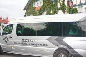 luxury minibus minibus hire by ambassador line south camberley