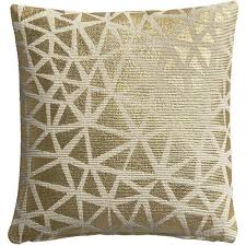gold triangle pattern pillow