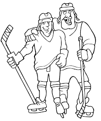 hockey colouring player playing hockey coloring pages lads