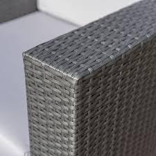 amazon com verin outdoor grey wicker club chair with silver