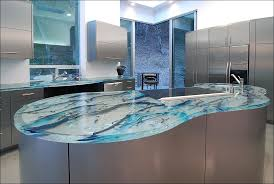 Best Kitchen Countertop Material by Kitchen Recycled Glass Countertops Cost Solid Surface