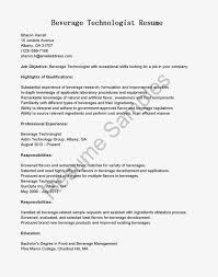 Example Of Bartender Resume by Director Of Food And Beverage Resume Free Resume Example And