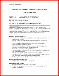Medical Assistant Job Description For Resume by Duties Summary For Resume Apa Example