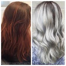 silver hair makeover years of henna to silver hair color modern salon