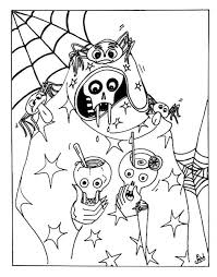 scary halloween colouring pages u2013 fun halloween