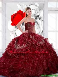 2015 quinceanera dresses new style sweetheart wine 2015 quinceanera dress with