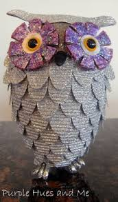 west elm inspired glitter owl ornament diy inostructions on how to