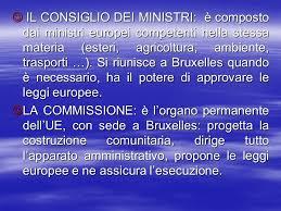 consiglio dei ministri europeo l unione europea ppt scaricare