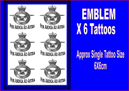 raf themed tattoos temporary tattoo waterproof last 1 week air