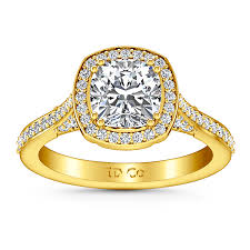 halo cushion cut engagement ring halo cushion cut engagement ring coco 14k yellow gold imagine