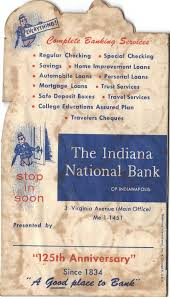 Indiana travellers cheques images Sunday adverts indiana national bank of indianapolis historic jpg