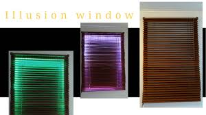 how to create an illusion window with led and blinds diy youtube