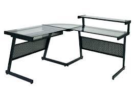 Glass Desk Modern L Glass Desk L Shaped Glass Desk Glass Computer Desk L Shaped