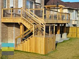 marvelous walkout basement construction 7 2 level cedar deck