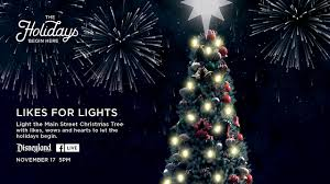 likes for lights help light the disneyland park tree