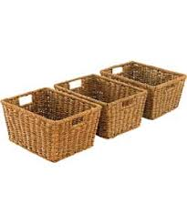 set of 3 seagrass storage baskets natural dream home