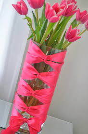 diy flower vase idea corset vase with tulips modern bohemian