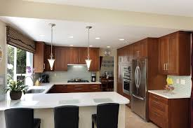 this u shaped kitchen layout with island shows great interaction