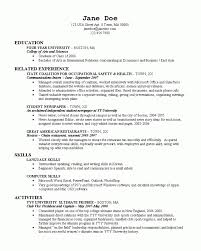 College Activities Resume Template Resume Template For College Application Resume For Students